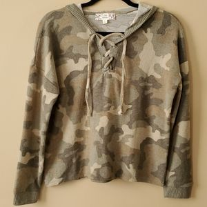 Pink Republic Hooded Camo Top Size M - NWOT